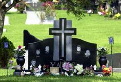 Headstone for the 5 Yates children, all drowned by their mother, Andrea Yates. So sad.