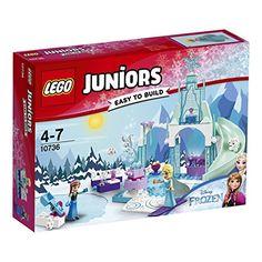 LEGO – 10736 – Juniors – L'aire de Jeu d'anna et Elsa: Confidentiel Jeux de construction Joue dans la neige avec Anna et Elsa dans l'aire…