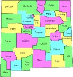 map of NM counties...
