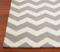 Grey and White Chevron Rug Pottery Barn Kids 5x8 is $299