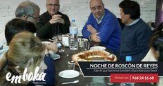 Noche de Reyes con clientes que llevan 19 años degustando nuestro Roscón. Os recordamos que hoy emboka permanece cerrado pero... ¡¡mañana volvemos con las pilas cargadas!! Reservas: 968241668 Estamos en La Flota, Murcia