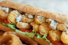 Oven Fried Shrimp Po' Boy from @NevrEnoughThyme http://www.lanascooking.com/2014/06/24/oven-fried-shrimp-po-boy/ #sandwich #shrimp #southern #poboy