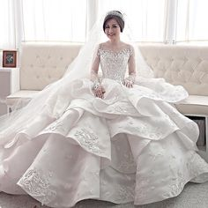 Full Layer Organza with Embroidery France Dentelle Lace by Melta Yani
