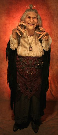 Art Doll. Baba Yaga, by Thomas Kuebler. The witch of Slavic folklore - In…