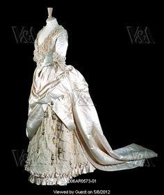 Wedding dress and petticoat 1885