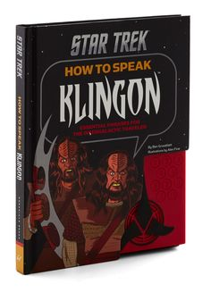 How to Speak Klingon. Learn the language of the Klingons at maximum warp speed with this convenient guide to intergalactic chat! #black #modcloth