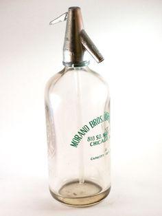 Antique Seltzer Bottle Morano Bros. Beverage Co.-Chicago