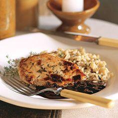 Raspberry-Balsamic Glazed Chicken | CookingLight.com #myplate #protein