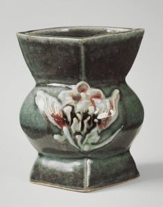 Kawai Kanjiro (Japanese, 1890-1966). Vase, ca. 1955. Stoneware, 7 1/4 x 6 3/8 in. (18.4 x 16.2 cm). Brooklyn Museum, Gift of Dr. Herbert Meadow, 75.120.2. Creative Commons-BY