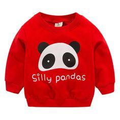 Newborn Baby Boys Girls Sweatshirts Winter Spring Autumn Children Cartoon Panda Long Sleeves Sweater Kids T-shirt Clothes Cartoon Panda, Cartoon Kids, Sweat Shirt, Baby Boy Newborn, Baby Kids, Unisex Clothes, Hipster Babies, Cute Sweatshirts, Cheap Hoodies