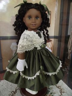 1850s Silk Ball Gown w/ Antique Lace Shawl by VintiqueDesigns, $110.00