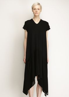 Y's by Yohji Yamamoto Pleated Dress (Black)