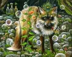 janie olsen prints for sale Photo D Art, Fox Art, Pet Costumes, Animal Totems, Wildlife Art, Whimsical Art, Animal Paintings, Beautiful Creatures, Amazing Art