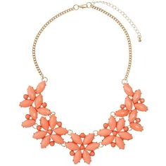 Coral Flower Necklace - Dorothy Perkins ❤ liked on Polyvore featuring jewelry, necklaces, blossom necklace, coral flower necklace, coral jewellery, flower jewelry and coral jewelry