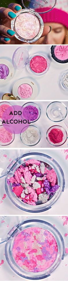 Use Old Shadows to Make Galaxy Blush   Awesome Beauty Hacks Tips and Tricks   Easy Makeup Hacks Every Girl Should Know