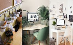 Cómo decorar tu zona de trabajo o despacho. www.comocombinar.com Are You Happy, Office Desk, Corner Desk, Make It Yourself, Furniture, Home Decor, Corner Table, Desk Office, Decoration Home