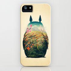 Tonari no Totoro iPhone Case by Victor Vercesi