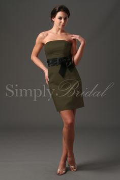 #85090 - Strapless Satin/Taffeta Dress with Sash
