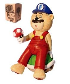 "BAD TASTE BEARS MARCO (SUPER MARIO)	  Parody Bear of Mario from the Super Mario games. Fantastic and already very popular Bad Taste Bear range. From Peter Underhill comes this rather naughty but extremely funny and tongue in cheek collection of 4""-5"" bears. $24.95"