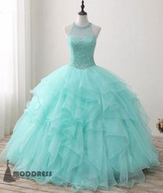 "Universe of goods - Buy ""Bealegantom 2019 New Real Photo Mint Quinceanera Dresses Ball Gown Beaded Sweet 16 Dress For 15 Years Vestidos De 15 Anos for only USD. Mint Quinceanera Dresses, Quince Dresses, Prom Dresses For Teens, A Line Prom Dresses, Formal Dresses For Women, Cheap Prom Dresses, Dress Prom, Evening Dresses, Dress Formal"
