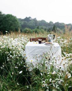 Amandine L & # Hyver / Blé Noir Studio / Kaffeepause in den Gänseblümchen - - Summer Pinterest, Elsie De Wolfe, Photo Images, Foto Art, Outdoor Dining, Outdoor Spaces, Country Life, Outdoor Gardens, Wild Flowers