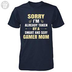 I'm Taken By A Gamer Mom. Mother's Day Gift - Unisex Tshirt Navy XL - Birthday shirts (*Amazon Partner-Link)
