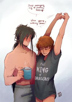 Cartoon Ships, Cartoon As Anime, Dragon Rise, Httyd Dragons, Hiccup And Toothless, How To Train Dragon, Mundo Comic, Dragon Trainer, Cute Gay