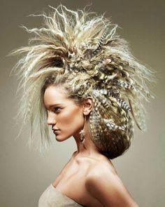 Vague idea of werecat shaman hair.