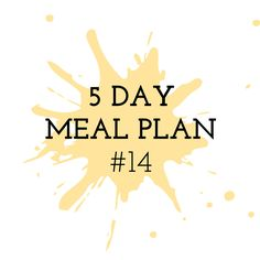 5 Day Meal Plan #14 - Cooking in the Chaos Thermomix Recipes