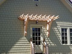 Entrance-Pergola..... this would be cute over the sliding doors on the deck!