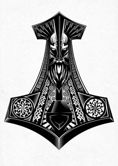 Thousands ideas which viking tattoo to choose and what is its meaning Getting a Viking tattoo, but why? No, rather, because their story is fascinating. The Vikings were an ethnic group from Scandina. Viking Tattoo Symbol, Norse Tattoo, Viking Tattoo Design, Celtic Tattoos, Tattoo Symbols, Thor Hammer Tattoo, Thor Tattoo, Art Viking, Viking Symbols