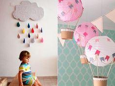 Com materiais simples de serem encontrados - que muitas vezes já temos em casa – e uma pitada de criatividade é possível criar itens de decoração que farão toda diferença no quarto dos pequenos.