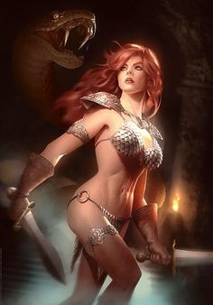 The Geeky Nerfherder: #CoolArt: 'Red Sonja: She-Devil With A Sword' by Alex Garner