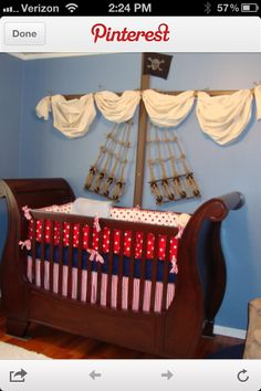 Amazing pirate room..love the sails above the bed  @Amanda Sienkiewicz @amanda c. do it! do it  Amanda C... I'm sure you can turn it into a viking ship