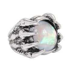 Opal Claw Ring Hot Topic ($6.80) via Polyvore featuring jewelry, rings, opal jewellery, claw jewelry, opal jewelry, talon jewelry and claw ring