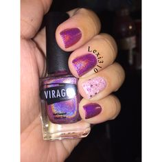 Breast Cancer awareness mani using Virago Varnish polish 'Strength' the accent nail is OPI 'The Power of Pink'