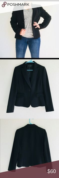 """EUC Antonio Melani Black Blazer *EUC Antonio Melani Black Blazer *Lightly padded shoulders, has one pocket on the right of the jacket, fully lined *Womens Size 6; Sleeves measure 24 3/4""""; 92% Polyester, 8% Spandex; Dry clean only *This jacket is in excellent condition, no holes, rips or tears ANTONIO MELANI Jackets & Coats Blazers"""