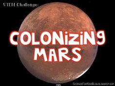 Science for Kids: Colonizing Mars STEM Challenge