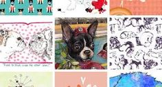 Image result for mid century style dog illustration