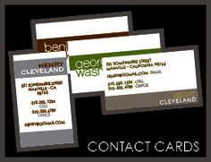Looking for a new job, a new house, or a new girlfriend?    BRAND YOURSELF.    Sleek, contemporary contact cards will surely leave a lasting impression that can help with your next move.     heavy weight (130 lb) matte finished card stock, printed on BOTH sides.      * allow 2 weeks for delivery, after proof approval  * larger quantities available, contact us for pricing    * a proof will be emailed to you, we print ONLY after you approve it  * first proof included in purchase price