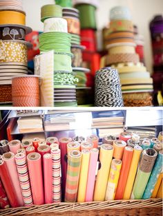 love all this...rolls and rolls of prettiness! #rockpaperscissors #maine @sbluemaine