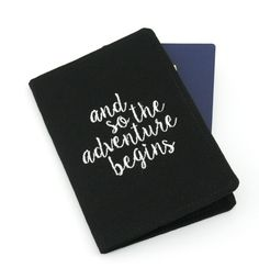 Embroidered Passport Cover with Quote Passport by oddsnblobs