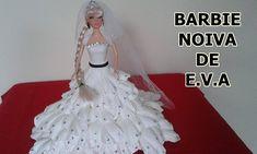BARBIE COM ROUPA DE NOIVA DE E.V.A