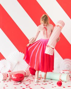 Red and White Candy Stripe Party   Oh Happy Day!