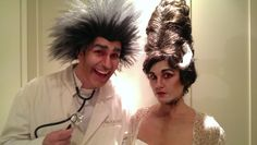 Mad Doctor and Bride of Frankenstein wig and makeup design - private client. Elizabeth Cipollina 2014
