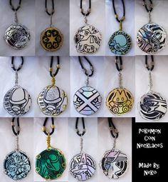 pok'emon crafts   pokemon coin necklaces by vampiremistresskayla artisan crafts jewelry ...