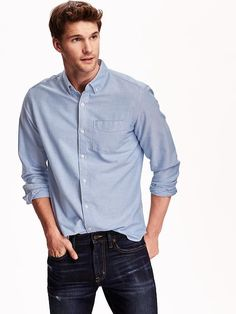 Men's Slim-Fit Oxford Shirts Product Image