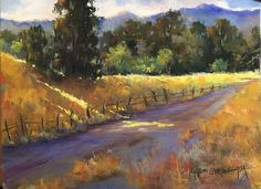 All Roads Lead Home by LaVone Sterling Pastel ~ 9 x 12 Pastel Landscape, Watercolor Landscape, Abstract Landscape, Landscape Paintings, Watercolor Paintings, Watercolors, Cool Landscapes, Beautiful Landscapes, Pinturas Color Pastel