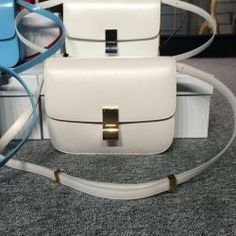 Free Shipping !Cheap 2015 Celine Bags Outlet-Celine Classic Bag in White Smooth Calfskin Leather