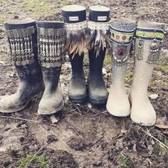 Love this! Definitely going to give my hunter boots some festy swag like these…